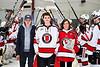 Baldwinsville Bees Brett Collier (21) on Senior Night at the Lysander Ice Arena in Baldwinsville, New York on Tuesday, February 4, 2020.