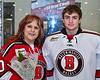 Baldwinsville Bees goalie Brad O'Neil (30) on Senior Night at the Lysander Ice Arena in Baldwinsville, New York on Tuesday, February 4, 2020.