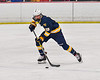West Genesee Wildcats Jeremy Keyes (19) skating with the puck against the Baldwinsville Bees in NYSPHSAA Section III Boys Ice Hockey action at the Lysander Ice Arena in Baldwinsville, New York on Tuesday, February 4, 2020. West Genesee won 3-1.