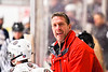 Baldwinsville Bees Assistant Coach Glenn McCaffrey on the bench against the West Genesee Wildcats in NYSPHSAA Section III Boys Ice Hockey action at the Lysander Ice Arena in Baldwinsville, New York on Tuesday, February 4, 2020. West Genesee won 3-1.