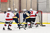 West Genesee Wildcats Joe McLaughlin (9) scores a goal against the Baldwinsville Bees in NYSPHSAA Section III Boys Ice Hockey action at the Lysander Ice Arena in Baldwinsville, New York on Tuesday, February 4, 2020. West Genesee won 3-1.