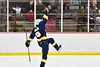 West Genesee Wildcats Billy Fisher (8) celebrates his game winning goal against the Baldwinsville Bees in NYSPHSAA Section III Boys Ice Hockey action at the Lysander Ice Arena in Baldwinsville, New York on Tuesday, February 4, 2020. West Genesee won 3-1.