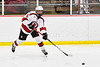 Baldwinsville Bees Alexander Pompo (5) passes the puck against the West Genesee Wildcats in NYSPHSAA Section III Boys Ice Hockey action at the Lysander Ice Arena in Baldwinsville, New York on Tuesday, February 4, 2020. West Genesee won 3-1.