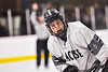 Syracuse Cougars Nelson Jones (6) before a face-off against the Baldwinsville Bees in NYSPHSAA Section III Boys Ice hockey action at Meachem Ice Rink in Syracuse, New York on Thursday, February 13, 2020. Syracuse won 4-0.