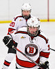 Baldwinsville Bees Luke Hoskin (16) before a face-off against the Fulton Red Raiders in NYSPHSAA Section III Boys Ice Hockey action at the Lysander Ice Arena in Baldwinsville, New York on Thursday, February 20, 2020. Baldwinsville won 2-1.