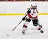 Baldwinsville Bees Luke Hoskin (16) fires the puck at the Fulton Red Raiders net in NYSPHSAA Section III Boys Ice Hockey action at the Lysander Ice Arena in Baldwinsville, New York on Thursday, February 20, 2020. Baldwinsville won 2-1.