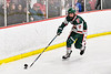 Fulton Red Raiders player with the puck against the Baldwinsville Bees in NYSPHSAA Section III Boys Ice Hockey action at the Lysander Ice Arena in Baldwinsville, New York on Thursday, February 20, 2020. Baldwinsville won 2-1.