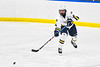 West Genesee Wildcats Jake Kopek (6) passes the puck against the Fayetteville-Manlius Hornets in a NYSPHSAA Section III Boys Ice hockey playoff game at the Shove Park in Camillus, New York on Wednesday, February 26, 2020. West Genesee won 4-1.