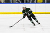 Fayetteville-Manlius Hornets Jason Tedeschi (23) with the puck against the West Genesee Wildcats in a NYSPHSAA Section III Boys Ice hockey playoff game at the Shove Park in Camillus, New York on Wednesday, February 26, 2020. West Genesee won 4-1.
