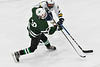 West Genesee Wildcats Jake Kopek (6) defending against Fayetteville-Manlius Hornets Josh Kunchinski (10) in a NYSPHSAA Section III Boys Ice hockey playoff game at the Shove Park in Camillus, New York on Wednesday, February 26, 2020. West Genesee won 4-1.