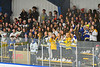 West Genesee Wildcats students cheering on their team against the Fayetteville-Manlius Hornets in a NYSPHSAA Section III Boys Ice hockey playoff game at the Shove Park in Camillus, New York on Wednesday, February 26, 2020. West Genesee won 4-1.