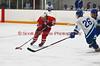 Baldwinsville's leading scorer Patrick Briggs (26) skates against CNS defender Will Kaljeski (26) in Boys Varsity Ice Hockey on Friday, January 23, 2009. Baldwinsville won 2-1.