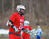 Baldwinsville Bees Charlie Bertrand (24) playing against the Cazenovia Lakers in Boys Lacrosse on Saturday, April 5, 2015 at Cazenovia, New York. Cazenovia won 13-5.