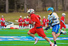 Baldwinsville Bees Stephen Petrelli (9) running with the ball against the Cazenovia Lakers in Boys Lacrosse on Saturday, April 5, 2015 at Cazenovia, New York. Cazenovia won 13-5.