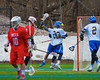 Cazenovia Lakers Jake Shaffner (20) celebrates a Lakers goal against the Baldwinsville Bees in Boys Lacrosse on Saturday, April 5, 2015 at Cazenovia, New York. Cazenovia won 13-5.