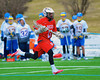 Baldwinsville Bees Tyler Gornick (13) with the ball against the Cazenovia Lakers in Boys Lacrosse on Saturday, April 5, 2015 at Cazenovia, New York. Cazenovia won 13-5.