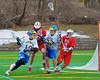 Cazenovia Lakers PJ Brown (10) comes around the net against the Baldwinsville Bees on Saturday, April 5, 2015 at Cazenovia, New York. Cazenovia won 13-5.