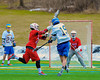 Cazenovia Lakers Peter Burr (19) shots and scores against the Baldwinsville Bees in Boys Lacrosse on Saturday, April 5, 2015 at Cazenovia, New York. Cazenovia won 13-5.