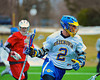 Cazenovia Lakers Henry Mann (2) cradles the ball against the Baldwinsville Bees in Boys Lacrosse on Saturday, April 5, 2015 at Cazenovia, New York. Cazenovia won 13-5.