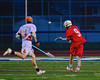 Baldwinsville Bees Stephen Petrelli (9) shoots and scores on the Liverpool Warriors in Boys Lacrosse on Tuesday, April 29, 2014 at Liverpool, New York, Liverpool won 14-13 in overtime.