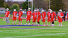 Baldwinsville Bees starting lineup on the field before playing the Liverpool Warriors in Boys Lacrosse on Tuesday, April 29, 2014 at Liverpool, New York, Liverpool won 14-13 in overtime.
