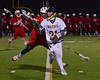 West Genesee Wildcats Sean Marks (21) juggling the ball against the Baldwinsville Bees in Boys Lacrosse on Tuesday, April 8, 2014 at Camillus, New York. West Genesee won 8-5.