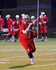 Baldwinsville Bees Cody Luke (3) looking to make a pass against the West Genesee Wildcats in Boys Lacrosse on Tuesday, April 8, 2014 at Camillus, New York. West Genesee won 8-5.