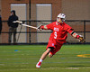 Baldwinsville Bees Stephen Petrelli (9) celebrates his goal against the West Genesee Wildcats in Boys Lacrosse on Tuesday, April 8, 2014 at Camillus, New York. West Genesee won 8-5.
