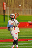 Baldwinsville Bees William Hamm Jr. (7) passes the ball against the Oswego Buccaneers in Section III Boys Lacrosse action in Fulton, New York on Thursday, May 1, 2014.  Baldwinsville won 13-9.