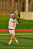 Baldwinsville Bees Tyler Gornick (13) making a pass against the Oswego Buccaneers in Section III Boys Lacrosse action in Fulton, New York on Thursday, May 1, 2014.  Baldwinsville won 13-9.