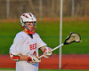 Baldwinsville Bees Stephen Petrelli (9) warming up before playing the Oswego Buccaneers in Section III Boys Lacrosse action in Fulton, New York on Thursday, May 1, 2014.  Baldwinsville won 13-9.
