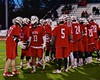 Baldwinsville Bees John Petrelli (33) being introduced before playing the West Genesee Wildcats in Section III Boys Lacrosse action at Nottingham High School in Syracuse, New York on Tuesday, March 31, 2015.