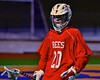 Baldwinsville Bees Ryan Gebhardt (20) with the ball against the West Genesee Wildcats in Section III Boys Lacrosse action at Nottingham High School in Syracuse, New York on Tuesday, March 31, 2015. West Genesee won 14-8.