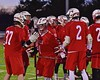 Baldwinsville Bees goalie Sean Coe (1) being introduced before playing the West Genesee Wildcats in Section III Boys Lacrosse action at Nottingham High School in Syracuse, New York on Tuesday, March 31, 2015.