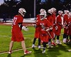 Baldwinsville Bees Evan Stolicker (32) being introduced before playing the West Genesee Wildcats in Section III Boys Lacrosse action at Nottingham High School in Syracuse, New York on Tuesday, March 31, 2015.