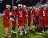 Baldwinsville Bees Ryan Kohutanich (23) being introduced before playing the West Genesee Wildcats in Section III Boys Lacrosse action at Nottingham High School in Syracuse, New York on Tuesday, March 31, 2015.