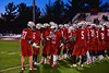 Baldwinsville Bees Jake Anderson (22) being introduced before playing the West Genesee Wildcats in Section III Boys Lacrosse action at Nottingham High School in Syracuse, New York on Tuesday, March 31, 2015.
