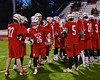Baldwinsville Bees Connor Smith (26) being introduced before playing the West Genesee Wildcats in Section III Boys Lacrosse action at Nottingham High School in Syracuse, New York on Tuesday, March 31, 2015.