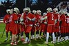 Baldwinsville Bees Charlie Bertrand (6) being introduced before playing the West Genesee Wildcats in Section III Boys Lacrosse action at Nottingham High School in Syracuse, New York on Tuesday, March 31, 2015.