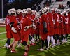 Baldwinsville Bees Patrick Delpha (11) being introduced before playing the West Genesee Wildcats in Section III Boys Lacrosse action at Nottingham High School in Syracuse, New York on Tuesday, March 31, 2015.