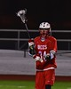 Baldwinsville Bees Matthew Dickman (24) passes the ball against the West Genesee Wildcats in Section III Boys Lacrosse action at Nottingham High School in Syracuse, New York on Tuesday, March 31, 2015. West Genesee won 14-8.