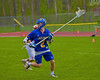 Cazenovia Lakers Adam Race (2) with the ball against the Baldwinsville Bees in Section III Boys Lacrosse action at the Pelcher-Arcaro Stadium in Baldwinsville, New York on Saturday, May 9, 2015.  Cazenovia won 13-6.