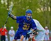 Cazenovia Lakers Derek White (31) comes away with a ground ball against the Baldwinsville Bees in Section III Boys Lacrosse action at the Pelcher-Arcaro Stadium in Baldwinsville, New York on Saturday, May 9, 2015.  Cazenovia won 13-6.