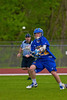 Cazenovia Lakers Alex Hunt (22) shoots and scores against the Baldwinsville Bees in Section III Boys Lacrosse action at the Pelcher-Arcaro Stadium in Baldwinsville, New York on Saturday, May 9, 2015.  Cazenovia won 13-6.