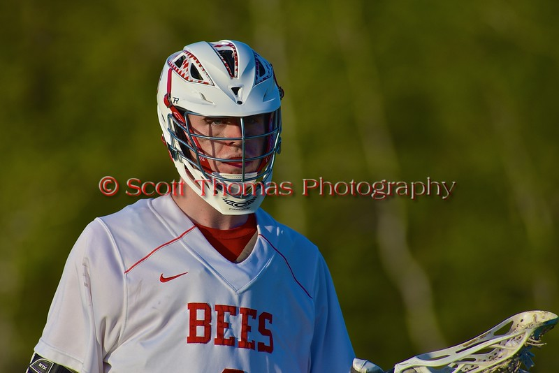 Baldwinsville Bees Charlie Bertrand (6) on the field against the Central Square Redhawks in Section III Boys Lacrosse action at the Pelcher-Arcaro Stadium in Baldwinsville, New York on Thursday, May 7, 2015.  Baldwinsville won 19-6.