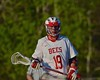 Baldwinsville Bees Jesse Menkins (19) on the field against the Central Square Redhawks in Section III Boys Lacrosse action at the Pelcher-Arcaro Stadium in Baldwinsville, New York on Thursday, May 7, 2015.  Baldwinsville won 19-6.
