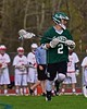 Fayetteville-Manlius Hornets Lucas Hamel (2) with the ball against the Baldwinsville Bees in Section III Boys Lacrosse action at the Pelcher-Arcaro Stadium in Baldwinsville, New York on Friday, May 1, 2015.  Baldwinsville won 11-9.