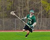 Fayetteville-Manlius Hornets Adam Rahim (29) with the ball against the Baldwinsville Bees in Section III Boys Lacrosse action at the Pelcher-Arcaro Stadium in Baldwinsville, New York on Friday, May 1, 2015.  Baldwinsville won 11-9.