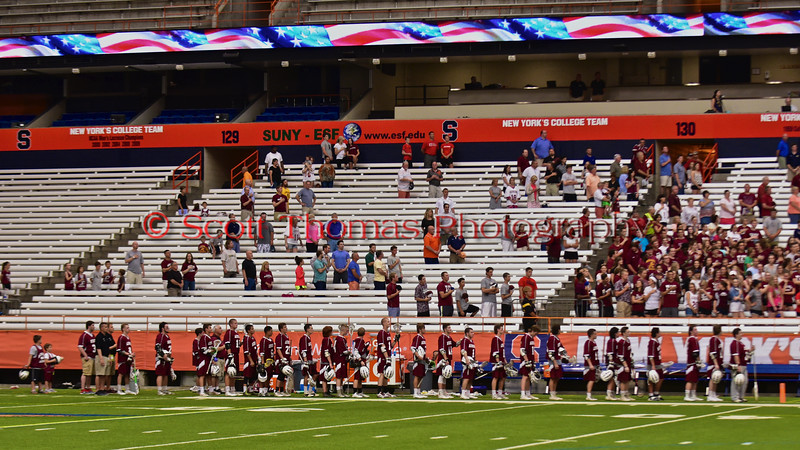 West Genesee Wildcats played the Auburn Maroons for the Section III Class A Boys Lacrosse Championship at the Carrier Dome in Syracuse, New York on Wednesday, May 27, 2015.