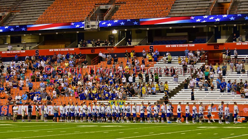 Cazenovia Lakers played the Westhill Warriors for the Section III Class C Boys Lacrosse Championship at the Carrier Dome in Syracuse, New York on Wednesday, May 27, 2015.
